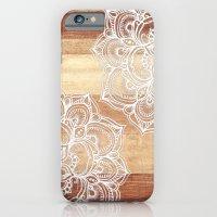White Doodles On Blonde … iPhone 6 Slim Case