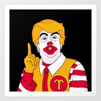 McDonald Trump Art Print