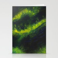Green Galaxy Stationery Cards