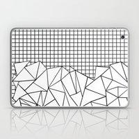 Abstract Grid #2 Black O… Laptop & iPad Skin