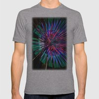 Night Light 144 - Wheel Mens Fitted Tee Athletic Grey SMALL