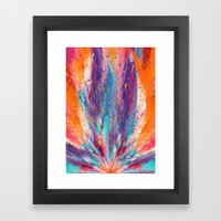 Colorful Fire Framed Art Print