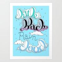 Little Black Rain Cloud Art Print