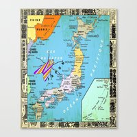 Mer Du Japon  Canvas Print