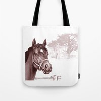 Stare Of The Stallion Tote Bag