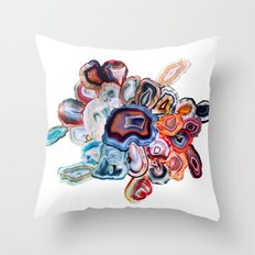 Earth's Loveliness, Agate Collection Throw Pillow