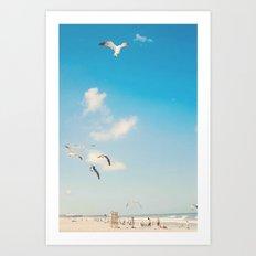The Beach... Art Print