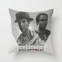 Inspector Spacetime  Throw Pillow