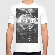 Adventure Mens Fitted Tee SMALL White