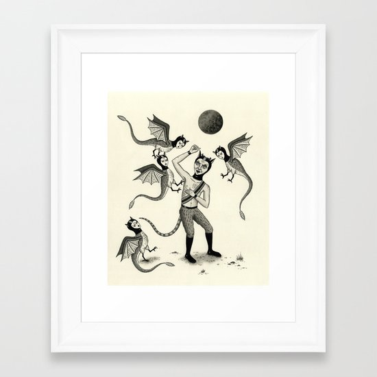 Wings and Talons Framed Art Print