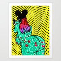 UP AGAINST IT.  (Mouseketeers). Art Print