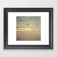 Flying Formation Framed Art Print