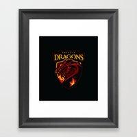 Valyria Dragons Framed Art Print