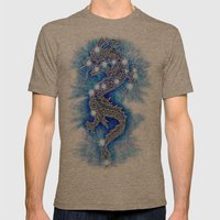 Dragon-constellation series Mens Fitted Tee Tri-Coffee SMALL