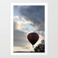 Adrift Amongst The Cloud… Art Print