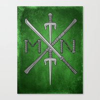 Weapons Down - TMNT Canvas Print