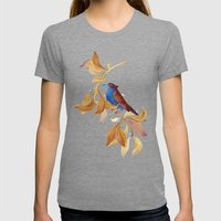 song bird Womens Fitted Tee Tri-Grey SMALL