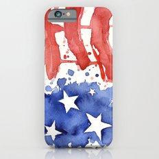 American Flag Watercolor 'Merica! Slim Case iPhone 6s