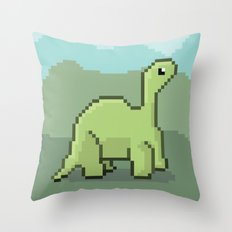 Another Pixel Dino! Throw Pillow