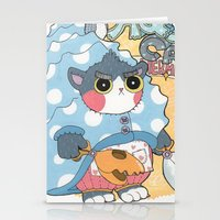 Aqua cat_Puno Stationery Cards