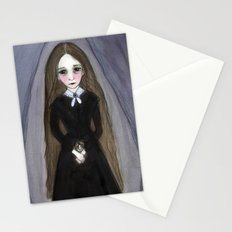 Miss Claire and Anna, Victorian Goth Portrait Stationery Cards