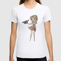 Flutter By Womens Fitted Tee Ash Grey SMALL