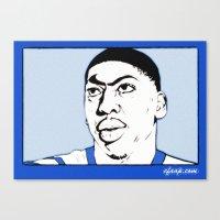 Anthony Davis Nike Swoosh Unibrow Canvas Print