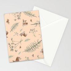 pale pink holiday corgi Stationery Cards