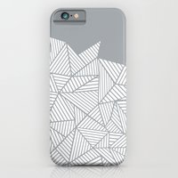 iPhone & iPod Case featuring Abstract Mountain Grey by Project M