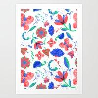 Little Flowers And Frien… Art Print