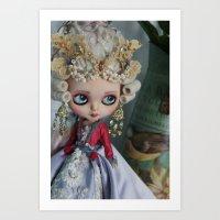 BAROQUE MARIE ANTOINETTE BLYTHE ART DOLL PINK Art Print