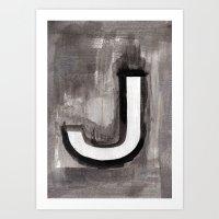 - J - Art Print
