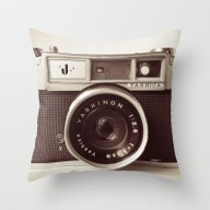 Throw Pillow featuring Camera by Tuky Waingan