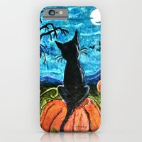 Cat In Pumpkin Patch iPhone 6 Slim Case
