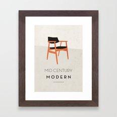 Mid Century Modern Framed Art Print