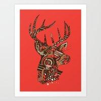 ROAD KILL ~ RED Art Print