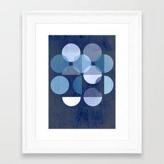 Indigo MOONS Framed Art Print