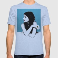 FIONA APPLE IDLER WHEEL Mens Fitted Tee Athletic Blue SMALL