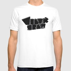 Vieux Crew SMALL White Mens Fitted Tee