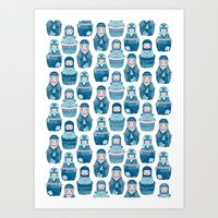 Matrioshkas Pattern Art Print