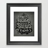 Don't Believe In Status … Framed Art Print