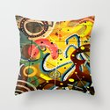 A Man & His Dog (Abstract) Throw Pillow