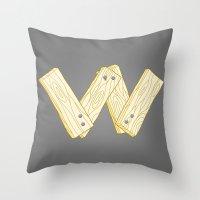 Alphabet W Throw Pillow