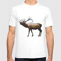 The Rocky Mountain Elk Mens Fitted Tee White SMALL