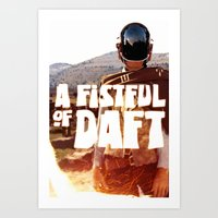 A FISTFULL of DAFT Art Print