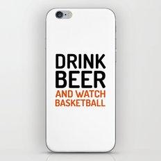 Drink Beer Watch Basketb… iPhone & iPod Skin