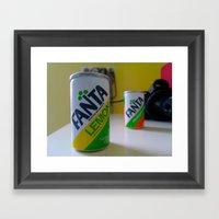 Fanta Soda  Framed Art Print