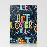 GET OVER IT Stationery Cards
