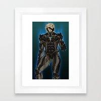 UNPLUG - Blue Framed Art Print