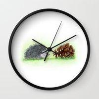 Spiky Duo Wall Clock
